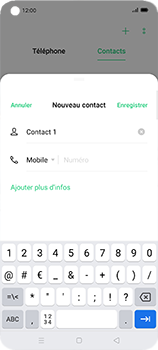 Oppo Find X2 Neo - Contact, Appels, SMS/MMS - Ajouter un contact - Étape 6