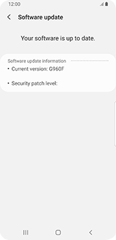 Samsung Galaxy S9 - Android Pie - Software - Installing software updates - Step 8