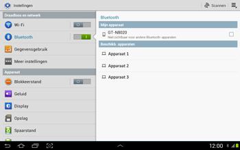 Samsung N8020 Galaxy Note 10-1 LTE - Bluetooth - Headset, carkit verbinding - Stap 5