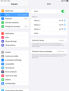 Apple iPad Air 2 - ipados 13 - WiFi - Configuration du WiFi - Étape 5