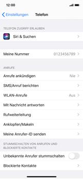 Apple iPhone X - iOS 13 - Anrufe - Rufumleitungen setzen und löschen - Schritt 4