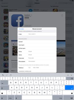 Apple iPad Pro 12.9 inch met iOS9 (Model A1652) - Applicaties - Account aanmaken - Stap 20