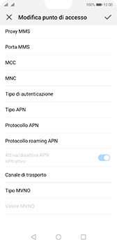 Huawei P20 - Android Pie - MMS - Configurazione manuale - Fase 13