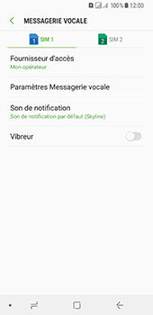 Samsung Galaxy A8 (2018) - Messagerie vocale - Configuration manuelle - Étape 7