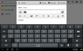 Samsung P5100 Galaxy Tab 2 10-1 - E-mail - envoyer un e-mail - Étape 9