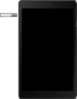 Samsung galaxy-tab-a-8-0-lte-2019-sm-t295 - Instellingen aanpassen - SIM-Kaart plaatsen - Stap 2