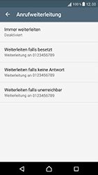 Sony Xperia XZ - Anrufe - Rufumleitungen setzen und löschen - Schritt 7