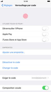 Apple iPhone 7 Plus - iOS 11 - Sécuriser votre mobile - Activer le code de verrouillage - Étape 7