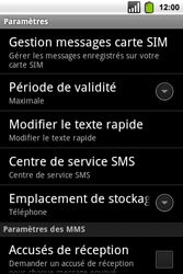 Alcatel OT-991 Smart - SMS - Configuration manuelle - Étape 5