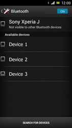 Sony Xperia J - Bluetooth - Connecting devices - Step 6