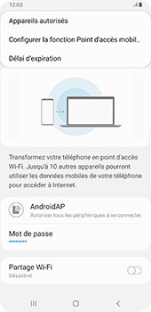 Samsung Galaxy Note9 - Android Pie - WiFi - Comment activer un point d'accès WiFi - Étape 9