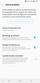 Samsung Galaxy A6 Plus - Beveiliging en privacy - zoek mijn mobiel activeren - Stap 9