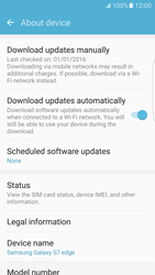Samsung Galaxy S7 Edge - Software - Installing software updates - Step 7