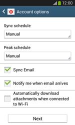 Samsung Galaxy Ace III - E-mail - manual configuration - Step 18