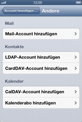 Apple iPhone 4 - E-Mail - Manuelle Konfiguration - Schritt 6