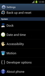 Samsung Galaxy S II - Software - Installing software updates - Step 5