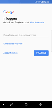 Samsung Galaxy S8 - Oreo - apps - account instellen - stap 4