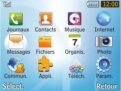 Samsung S3350 Chat 335 - E-mail - Configurer l