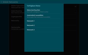 Samsung T805 Galaxy Tab S - Netzwerk - Manuelle Netzwerkwahl - Schritt 9