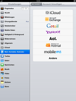 Apple iPad 2 - E-Mail - Konto einrichten - Schritt 5