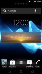 Sony Xperia T - Startanleitung - Installieren von Widgets und Apps auf der Startseite - Schritt 7