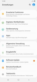 Samsung Galaxy A80 - Fehlerbehebung - Handy zurücksetzen - Schritt 6