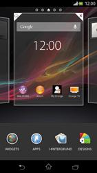 Sony Xperia V - Startanleitung - Installieren von Widgets und Apps auf der Startseite - Schritt 3