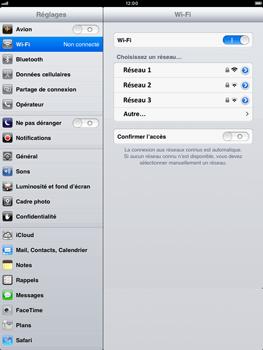 Apple iPad mini - Wifi - configuration manuelle - Étape 4