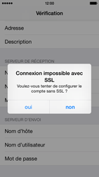 Apple iPhone 5c iOS 8 - E-mail - configuration manuelle - Étape 18