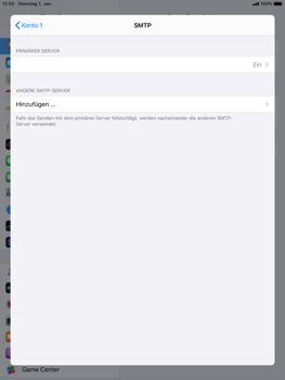 Apple iPad Air 2 - ipados 13 - E-Mail - Manuelle Konfiguration - Schritt 20