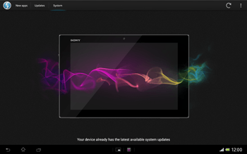 Sony Xperia Tablet Z LTE - Software - Installing software updates - Step 9