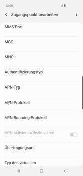 Samsung Galaxy S10 Plus - Internet und Datenroaming - Manuelle Konfiguration - Schritt 13