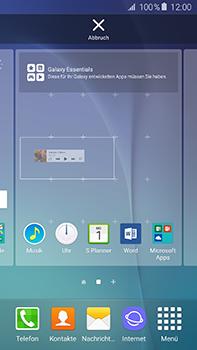 Samsung Galaxy A8 - Startanleitung - Installieren von Widgets und Apps auf der Startseite - Schritt 7