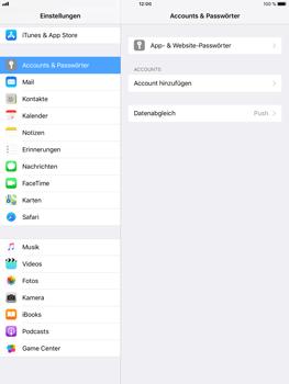 Apple iPad Air 2 - iOS 11 - Anmeldedaten hinzufügen/entfernen - 4 / 13