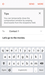 Samsung G389 Galaxy Xcover 3 VE - E-mail - Sending emails - Step 9
