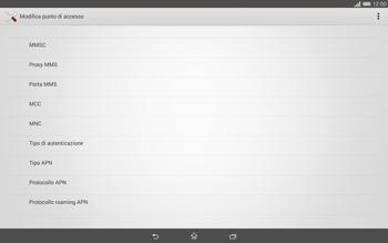 Sony Xperia Tablet Z2 LTE - MMS - Configurazione manuale - Fase 12