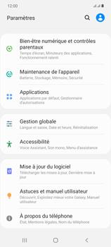 Samsung Galaxy Note20 - Aller plus loin - Restaurer les paramètres d'usines - Étape 4