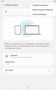 Samsung galaxy-tab-a-8-0-lte-2019-sm-t295 - WiFi - Mobiele hotspot instellen - Stap 8