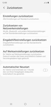 Samsung Galaxy Note 10 - Gerät - Zurücksetzen auf die Werkseinstellungen - Schritt 6