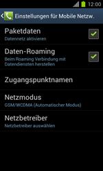 Samsung Galaxy S II - Internet und Datenroaming - Deaktivieren von Datenroaming - Schritt 6