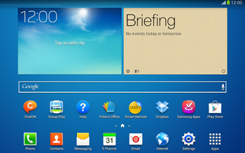 Samsung Galaxy Tab 3 10-1 LTE - Applications - Setting up the application store - Step 1