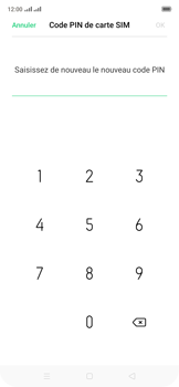 Oppo Reno 2Z - Sécuriser votre mobile - Personnaliser le code PIN de votre carte SIM - Étape 13