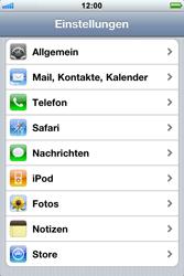 Apple iPhone 3GS - Netzwerk - Netzwerkeinstellungen ändern - 3 / 5