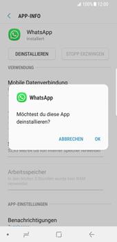 Samsung Galaxy S8 - Android Oreo - Apps - Eine App deinstallieren - Schritt 7