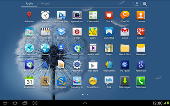 Samsung N8000 Galaxy Note 10-1 - Messagerie vocale - Configuration manuelle - Étape 3