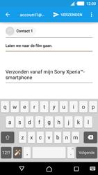 Sony E2303 Xperia M4 Aqua - e-mail - hoe te versturen - stap 8
