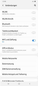 Samsung Galaxy A70 - Internet und Datenroaming - Prüfen, ob Datenkonnektivität aktiviert ist - Schritt 5