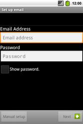 Alcatel OT-991 Smart - E-mail - Manual configuration - Step 8
