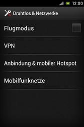Sony Xperia Miro - Netzwerk - Netzwerkeinstellungen ändern - 1 / 1