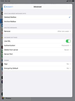 Apple iPad 9.7 (2018) - iPadOS 13 - E-mail - manual configuration - Step 22